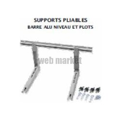 SUPPORT PRE-MONTE MUR PLIABLE 550MM BARRE ALU 1000MM AVEC PLOTS 200KG