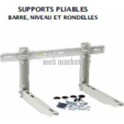 SUPPORT PRE-MONTE MUR PLIABLE 420MM BAR NIV LG 800 MM 100KG