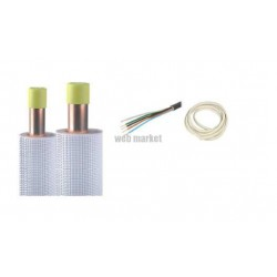 KIT INSTALLATION COMPLET CUIVRE 1/4-1/2 ISOLE M1 LONG(M): 17